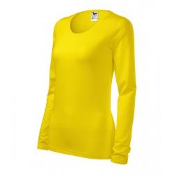 Triko dámské dlouhý rukáv SLIM žluté