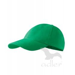 Kšiltovka 6P středně zelená