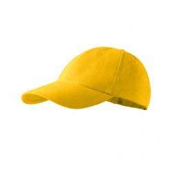 Kšiltovka 6P žlutá