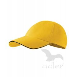 Kšiltovka 6P SANDWICH  žlutá