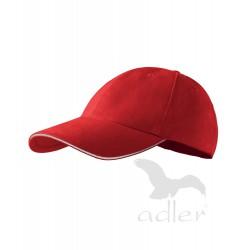 Kšiltovka 6P SANDWICH červená