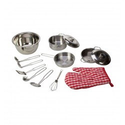 Bigjigs Toys - kuchařský set kovového nádobí