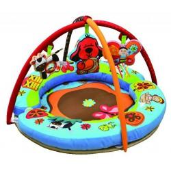 Aréna kulatá s polštáři, hrazdičkou a závěsnými hračkami