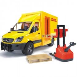 Bruder - Dodávka MB Sprinter DHL + paleťák