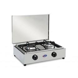 Dvouplotýnkový plynový vařič INOX DUO