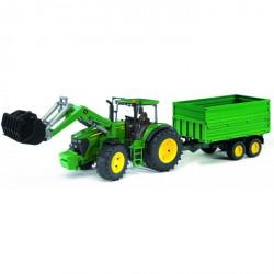 Bruder - Traktor John Deere 7930 s čelním nakladačem a vozem