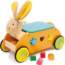 Dřevěný motorický vozík - Zajíc