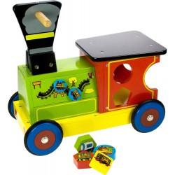 Bigjigs Dřevěný motorický vozík - Mašinka