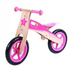 Bigjigs Dřevěné odrážedlo - Růžové kolo
