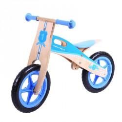 Bigjigs Dřevěné odrážedlo - Modré kolo
