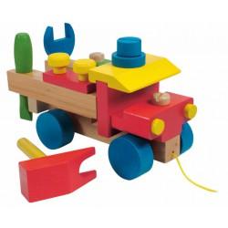 Woody Montážní auto s provázkem