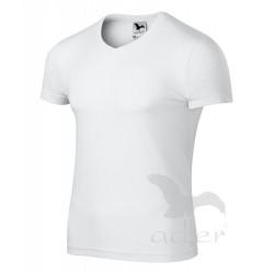 Tričko pánské SLIM FIT V-NECK bílé