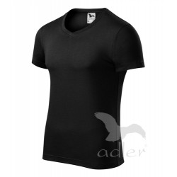 Tričko pánské SLIM FIT V-NECK černá