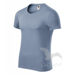 Tričko pánské SLIM FIT V-NECK denim