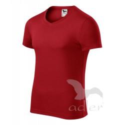 Tričko pánské SLIM FIT V-NECK červená