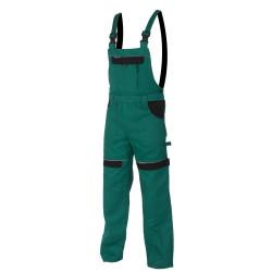 Pracovní kalhoty s laclem COOL TREND zeleno-černé