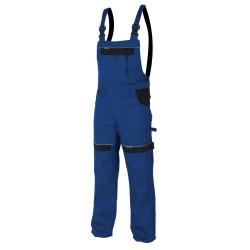 Pracovní kalhoty s laclem COOL TREND modro-černé