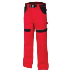 Pracovní kalhoty do pasu COOL TREND červeno-černé