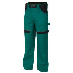 Pracovní kalhoty do pasu COOL TREND zeleno-černé