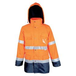Výstražná bunda MAXWELL oranžovo-modrá