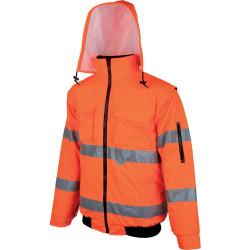 Výstražná bunda zateplená HOWARD REFLEX oranžová