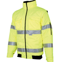 Výstražná bunda zateplená HOWARD REFLEX žlutá