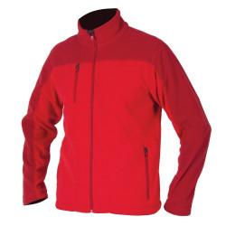 Pánská fleecová mikina MICHAEL červená