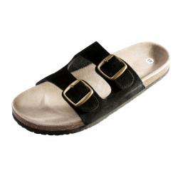 Korkové pantofle dámské PUDU černé