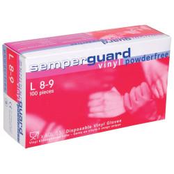 Jednorázové vinilové rukavice  SEMPERGUARD VINYL NEPUDR