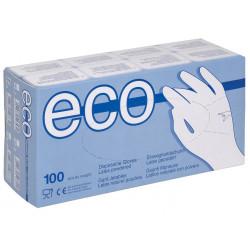 Jednorázové latexové rukavice ECO LATEX