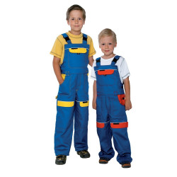 Dětské kalhoty s laclem COOL TREND KIDS modro-červené