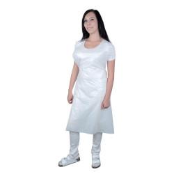 PE zástěra LAURA - bílá