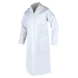 Plášť pánský dlouhý rukáv ERIK - bílý