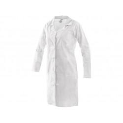 Plášť dámský dlouhý rukáv EVA - bílý