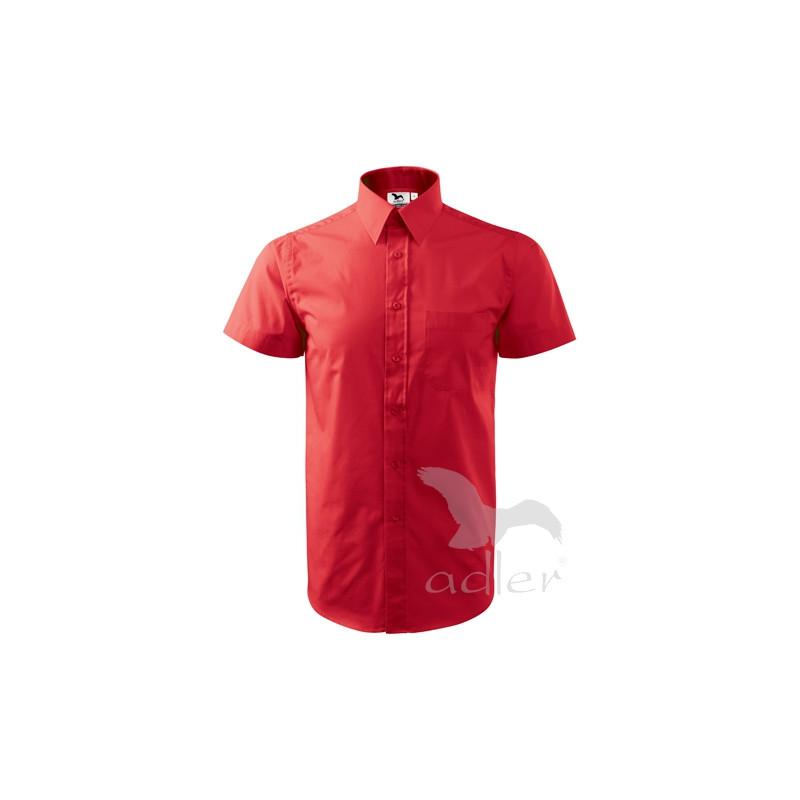 Košile pánská krátký rukáv SHIRT SHORT SLEEVE červená 8272abe0ab