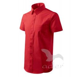 Košile pánská krátký rukáv SHIRT SHORT SLEEVE červená