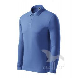 Polokošile pánská dl.rukáv PIQUE POLO LS azurově modrá