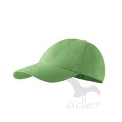 Kšiltovka 6P trávově zelená