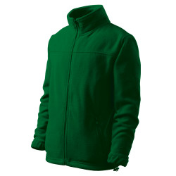 Dětská bunda fleecová JACKET lahvově zelená