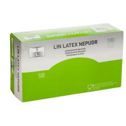 Jednorázové latexové rukavice LIN LATEX NEPUDR