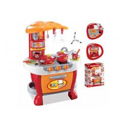 Dětská kuchyňka G21 s příslušenstvím, oranžová