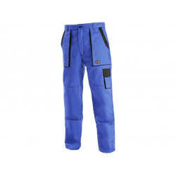 Pracovní kalhoty do pasu zimní JAKUB modro-černé