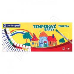Barvy temperové Centropen 9550 / 12 ks