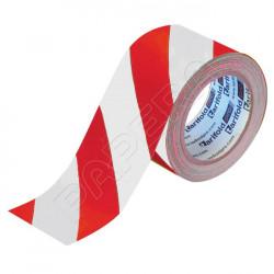 Standard podlahová páska 50 mm x 33 m - červená/bílá