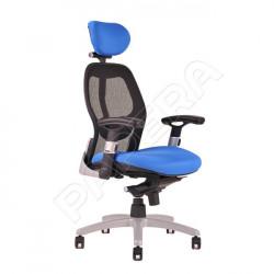 Křeslo manažerské SATURN textilie NET -  modrá