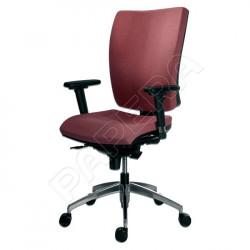 Židle kancelářská GALA 1580 SYN ALU YN076 - světle červená