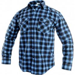 Pánská flanelová košile TOM . modrá