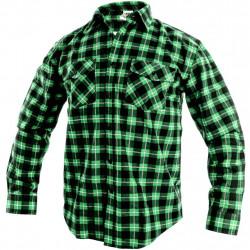 Pánská flanelová košile TOM . zelená