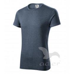 Tričko pánské FUSION tmavý denim melír