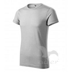 Tričko pánské FUSION stříbrný melír